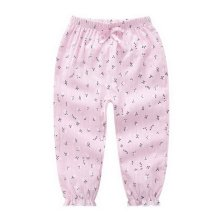 Comfortable Soft Children's Trousers, Champagne Red And Small Flowers