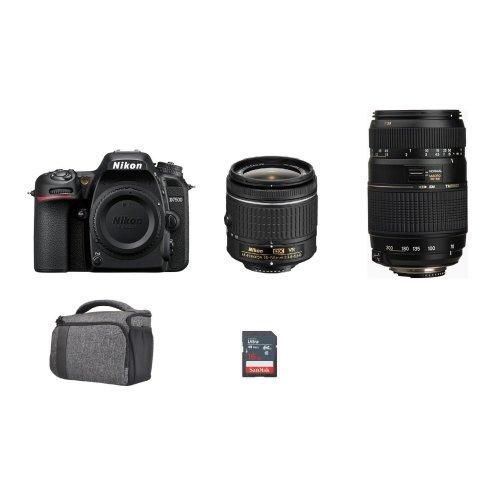 NIKON D7500 KIT AF-P 18-55MM + TAMRON AF 70-300mm + Bag + 16gb SD card