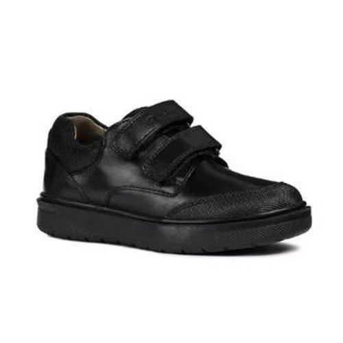 Geox Boys J Riddock Touch Fastening Leather Shoe