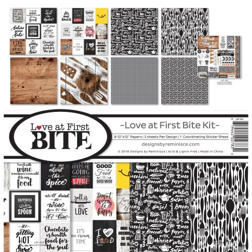 """Reminisce Collection Kit 12""""X12""""-Love At First Bite"""