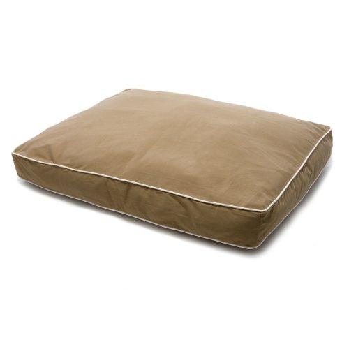 Dog Gone Smart Canvas Rectangle Bed Khaki 121x66x10cm