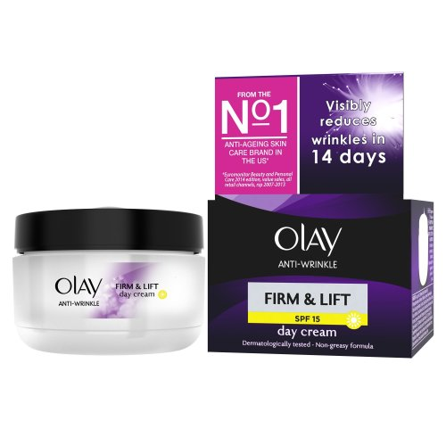 Olay Anti-Wrinkle Firm and Lift  SPF 15 Anti-Ageing Day Cream Moisturiser 50 ml