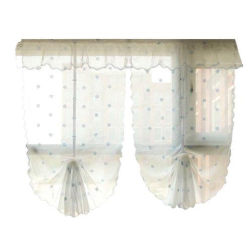 Cafe Curtain Window Valance/Romantic Curtain, Blue(175*83cm)