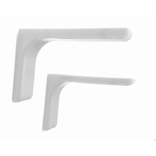 Shelf support brackets with covers 240mm Invisible/Concealed Fixings White
