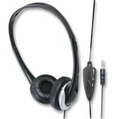 6m Stereo/Mono Super Bass Sound Cushioned TV Headphones Volume Control 6m Cable