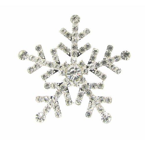 10 x Large Rhinestone Christmas Snowflake Diamante Crystal Embellishment Sparkly Rhinestones