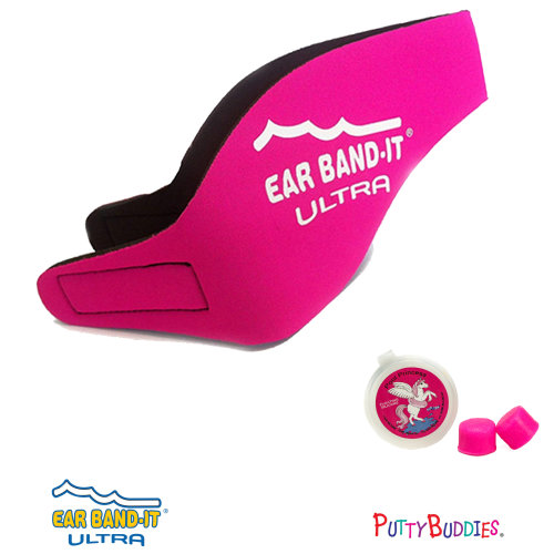 Ear Band-It ULTRA Hot Pink Head Band for Swimming