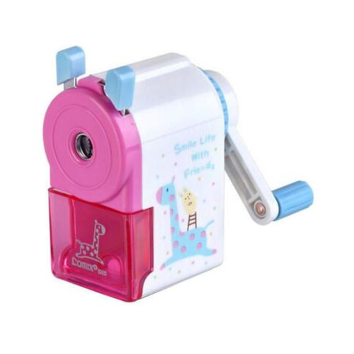 Pencil Sharpener Cartoon Patterns with See-through Container Pink