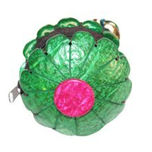 Coin Wallet Waterproof Change Purse Pouch Wallet with Zipper Flower Shape Green