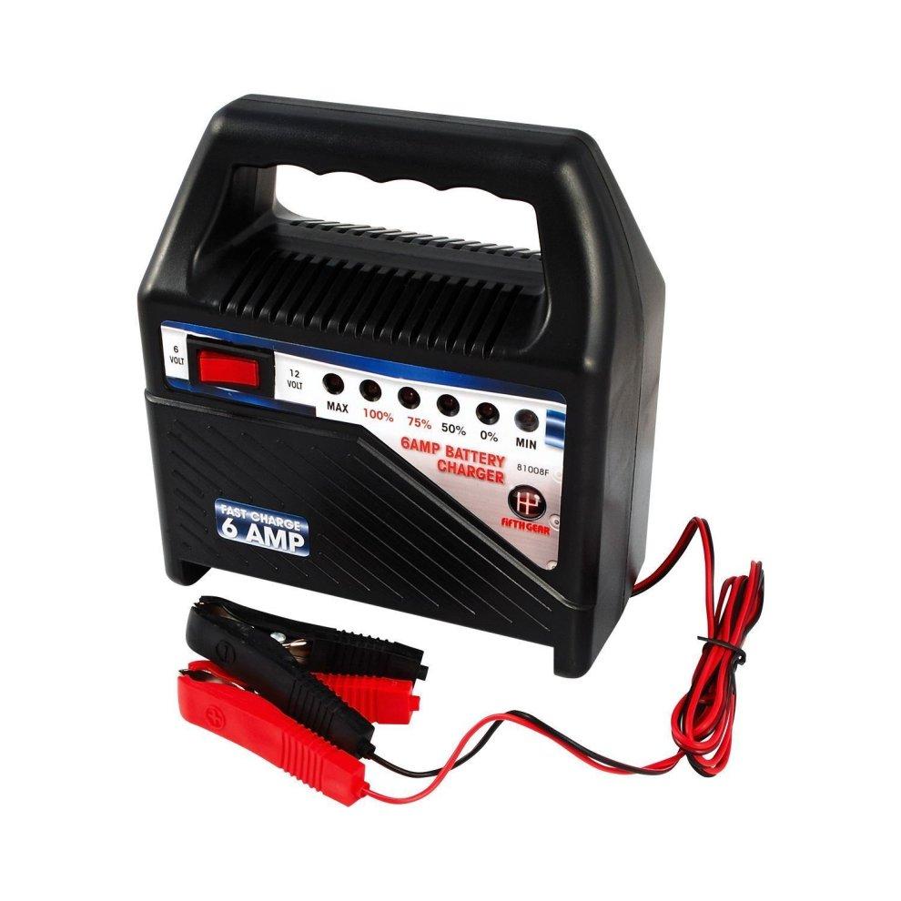 Fifth Gear 6 Amp 12V & 6V Car Van Dual Battery Charger Starter