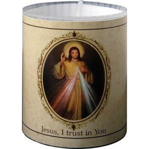 2 x Divine Mercy candle Burns for 24 hours Picture on the front Prayer on the back 2.5 inch tall