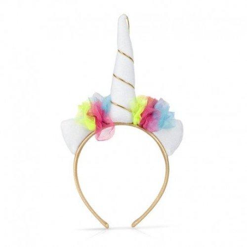 Unicorn Hair Band - Head 28997 Horn Colourful Garland Mythical Creature Kids Fun -  unicorn head band 28997 horn colourful garland mythical creature
