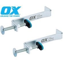 2 X OX TOOLS PRO P102012 300MM INTERNAL BUILDING Brick laying PROFILE CLAMP