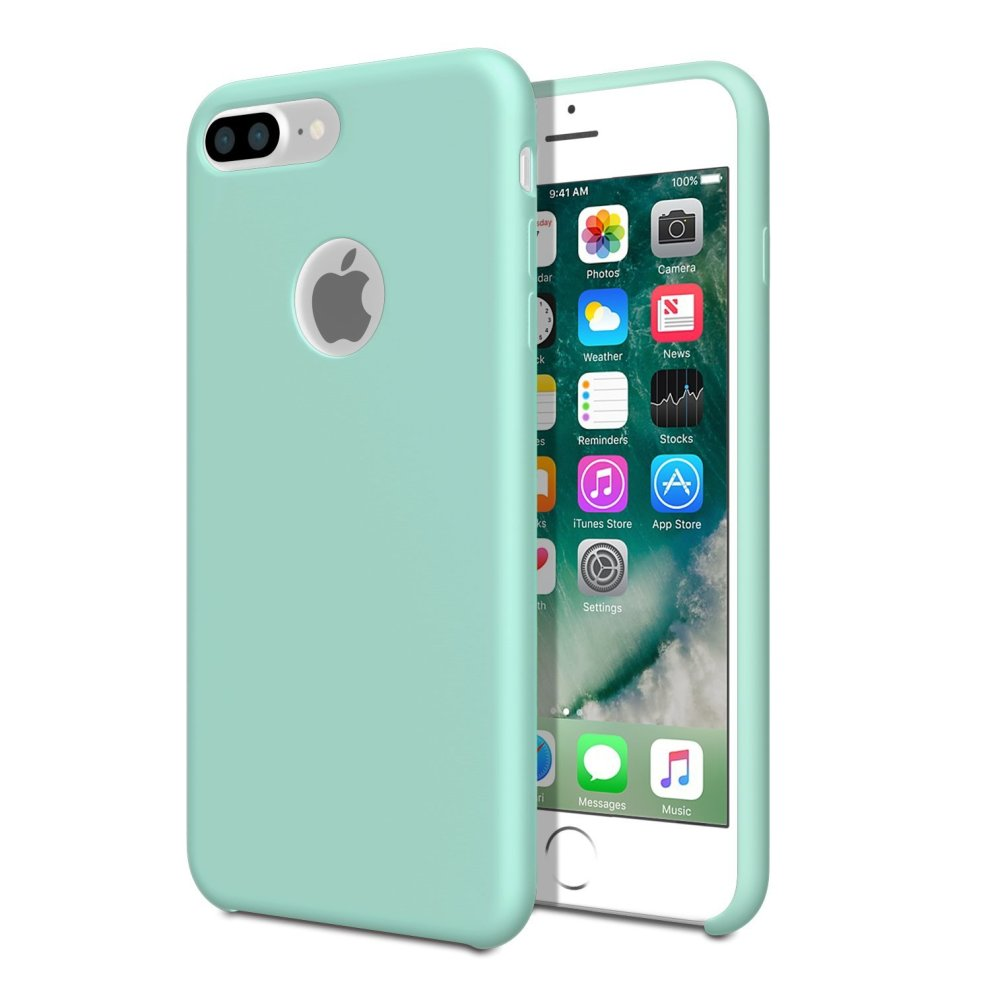 on sale d1e5b 752f0 Smooth Liquid Silicone Case For Apple iPhone 7 Plus - Sea Blue