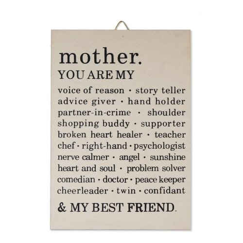 Mothers Day Wooden Sentimental Sign, with Beautiful Inscription and Sentimental Message - Ready to Hang - Perfect Unique Gift for mom on Christmas