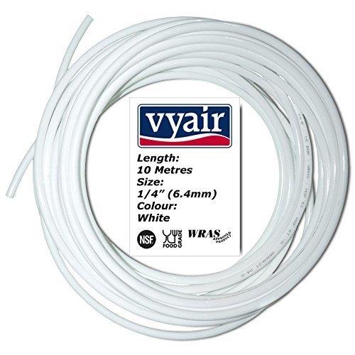 "VYAIR 10 METRES WHITE 1/4"" (6.4mm) DIAMETER WATER FILTER PIPE"