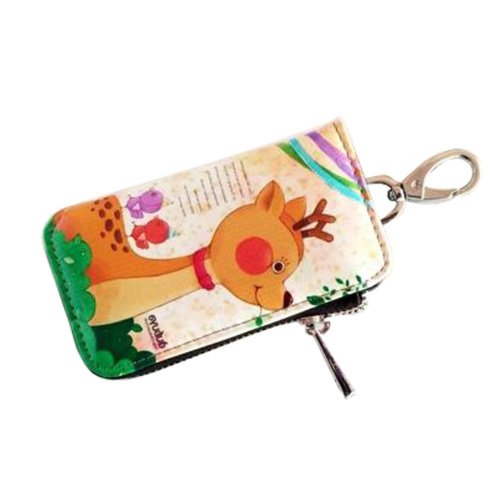 Women s Leather Key Case Creative Key Chain Bag Zipper Wallet Key Holder 0bd5806b26