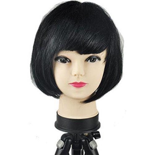 Women's Sexy Short Bob Cut Fancy Dress Wigs Play Costume Ladies Full Wig Party[Black]