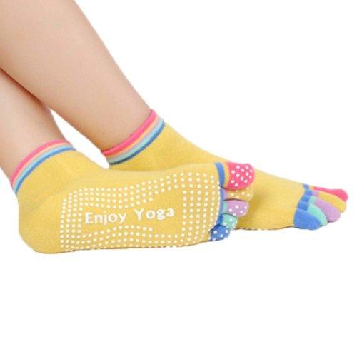 Five-finger Cotton Sports Socks Soft Non-slip New Design Yoga Socks #2