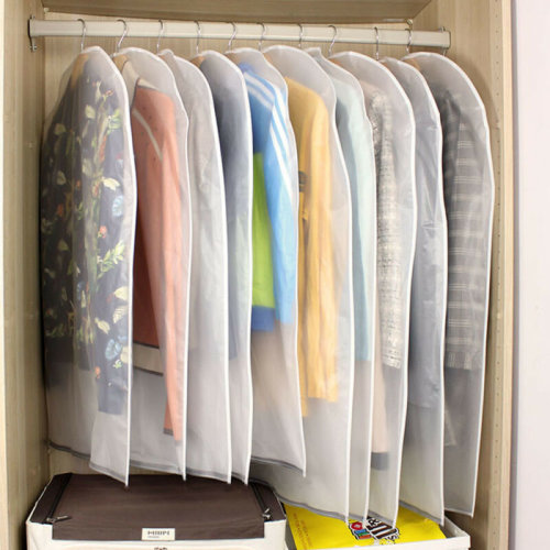 6 PACK SET CLEAR GARMENT DRESS SUIT CLOTHES COAT COVER PROTECTOR TRAVEL ZIP BAG