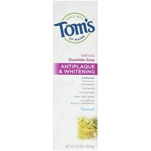 Toms of Maine Natural Fluoride-Free Antiplaque & Whitening Toothpaste, Fennel 5.50 oz