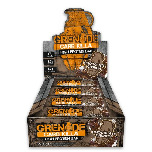 Grenade Carb Killa Chocolate Crunch High Protein and Low Carb Bar, 12 x 60 g