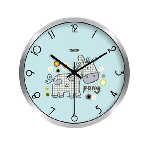 "Maidin Modern Pony Horse Living Room Mute Wall Clock 10""(Sliver)"