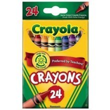 Crayola Crayons 24 in a Box (Pack of 6) 144 Crayons in Total