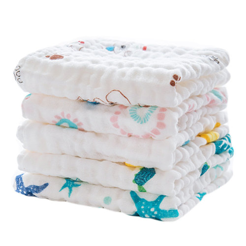 Baby Soft Cotton Towels Quick Absorbent Towels 5 Packs