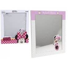 20 x 24cm Mini Mouse Wooden Mirror -  20 x 24cm mini mouse wooden mirror minnie pink 20x kids girls gift