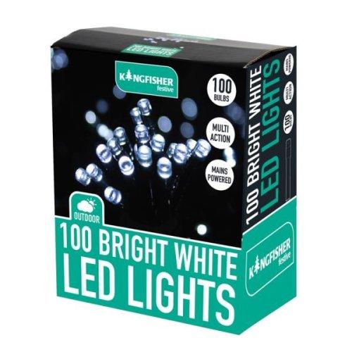 Kingfisher 100 LED Bright White Xmas Christmas Lights