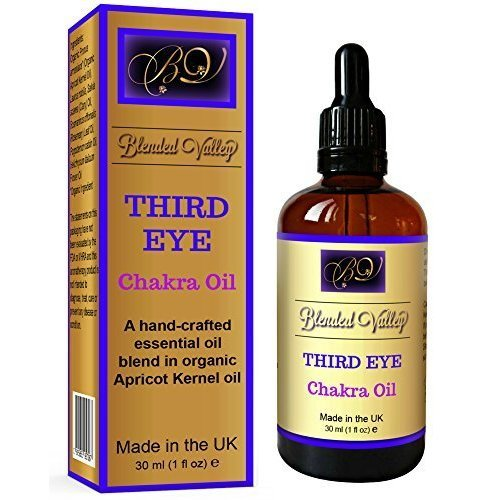 Chakra Oil Third Eye- Rosemary and Patchouli Essential Oils in Apricot Kernel Oil. for Aromatherapy Diffuser, Incense Burner, Vaporiser or...
