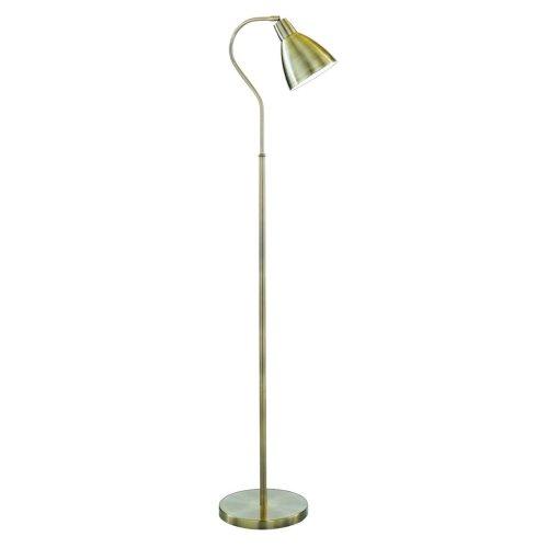 Antique Brass Floor Lamp Adjustable Metal Head