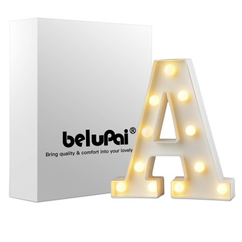 Takefuns Led Letters Lights Alphabet Marquee Decoration Light Up Sign Battery Operated for Party Wedding Receptions Holiday Home & Bath Bridal Bar...
