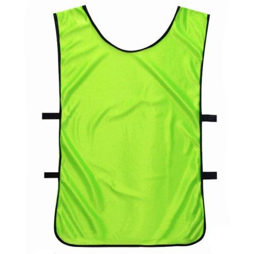 Set of 6 Basketball/Soccer Training/Scrimmage Vests Basketball Jersey,VERT ANIS