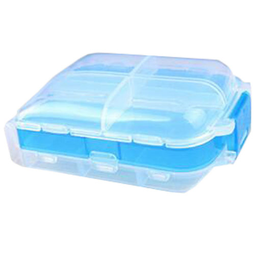 Portable Travel First-Aid Kit Medicine Storage Box Pill Sorter Container Blue