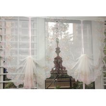 Embroidery Bow Knot White Curtain Lifting Window Curtain