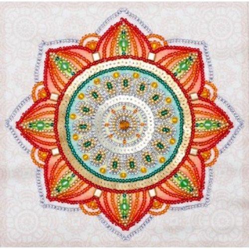 VDV Bead Embroidery Kit - Mandala - Happiness - beads & sequins