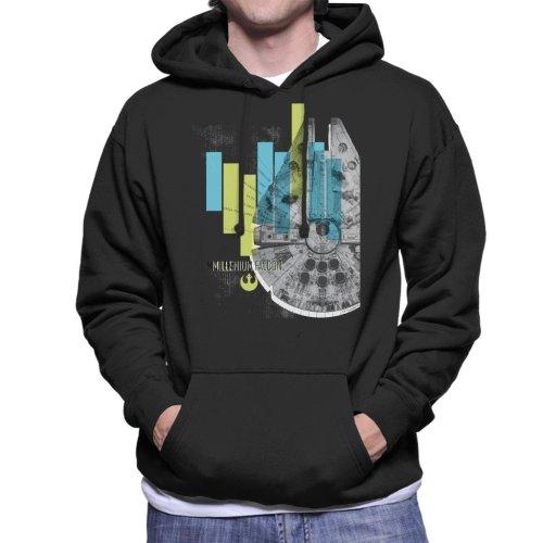 Star Wars Millenniumm Falcon Corellian Light Freighter Men's Hooded Sweatshirt