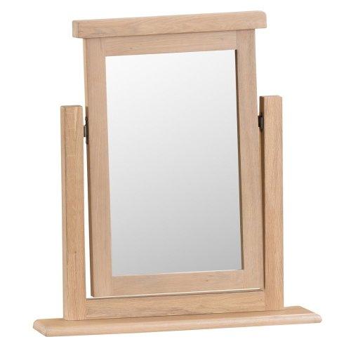 Langham Lime Washed Oak Trinket Mirror