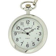 Jakob Strauss Silver Tone 24hr Open Face Gents Pocket Watch JAST07