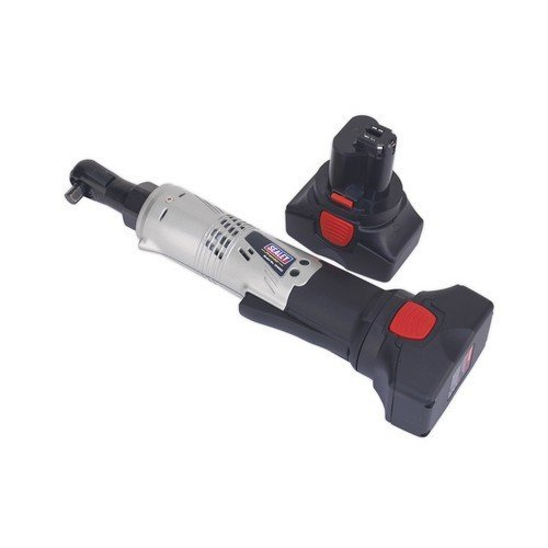 """Sealey CP6002 Cordless Ratchet Wrench 14.4V 2Ah Lithium-ion 3/8""""Sq Drive 68Nm 4-Pole Motor - 2 Batteries 40min Charger"""