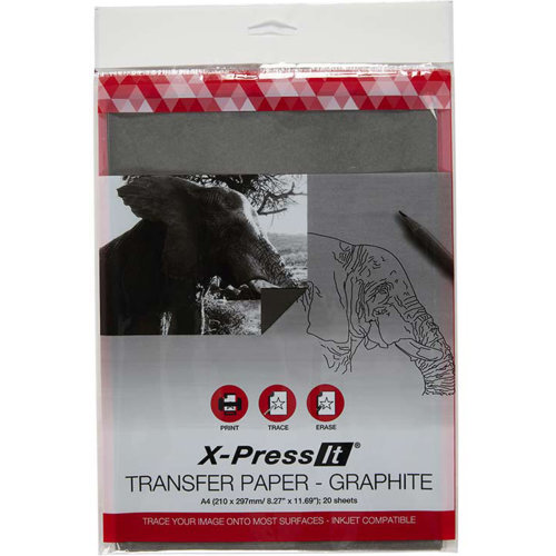 X-Press Transfer Paper A4 20/Pkg-Graphite