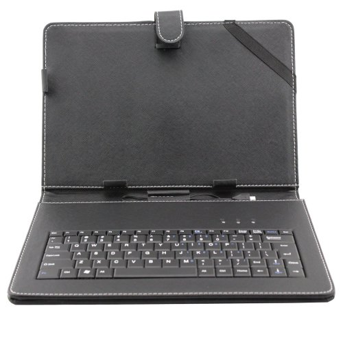 """Afunta(tm) 10.1"""" Universal Tablet PC Leather Case with Keyboard/Holder"""