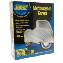 Large Water & Uv Resistant Motorcycle Cover - Maypole -  maypole motorcycle cover large