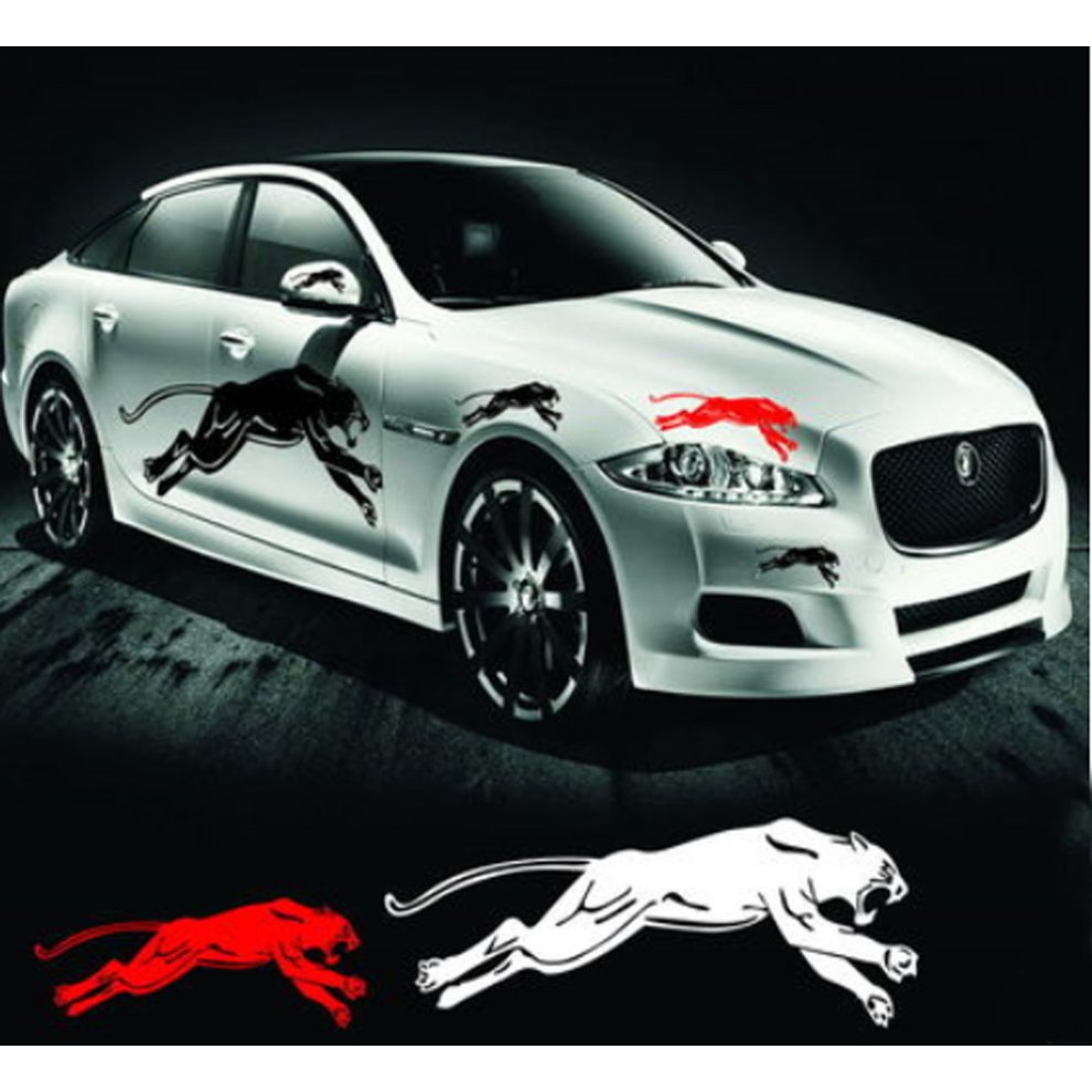 Set of 2 reflective cheetah car sticker unique car sticker design black 1