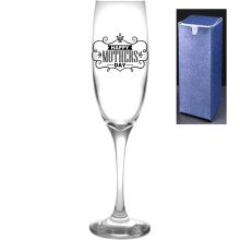 Novelty Engraved/Printed Prosecco Champagne Flute -  Happy Mothers Day!