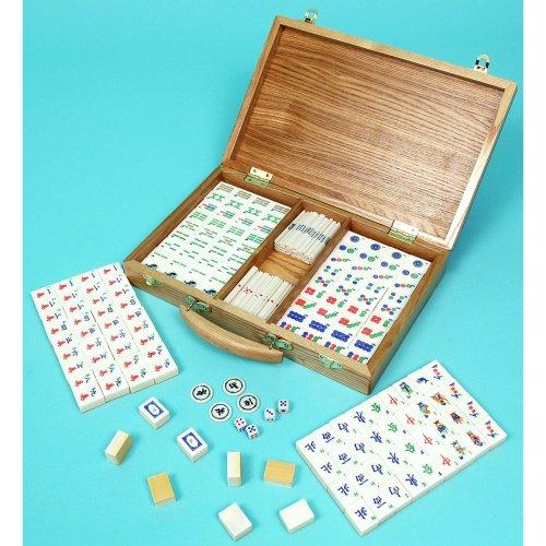 Mah jong set with bone and bamboo tiles - 00695