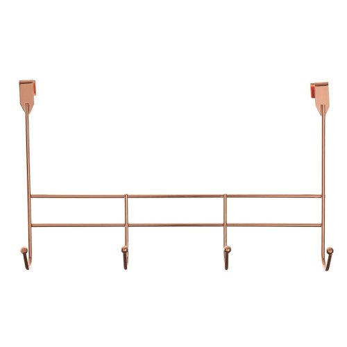 Rose Gold 4-Hook Over Door Hanger | Rose Gold Over Door Hooks