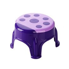 Cute Cartoon Creative Anti-skidding Plastic Stool Footstool for Children, Ladybug, Purple (Small)